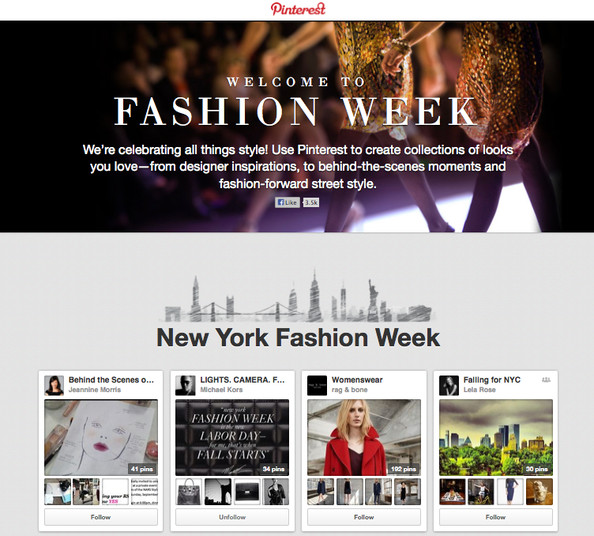 #FF - Pinterest's Fashion Week Hub (aka The Most Amazing NYFW Board Ever!)
