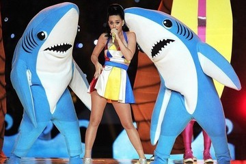 Attention: Katy Perry's Left Shark Onesies Are Now Available for Purchase