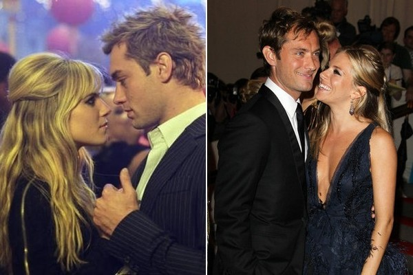 sienna miller and jude law movie couples who dated or