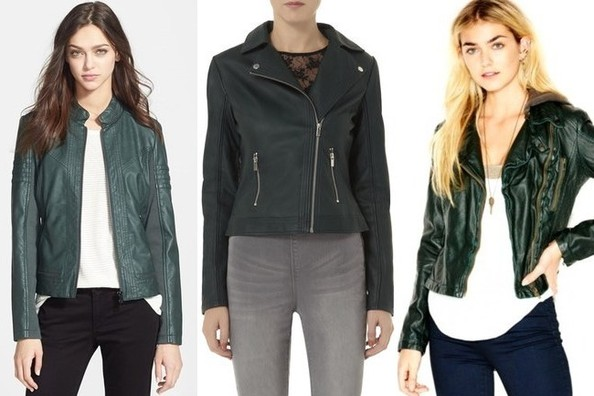 Green Faux Leather Jacket Womens - My Jacket