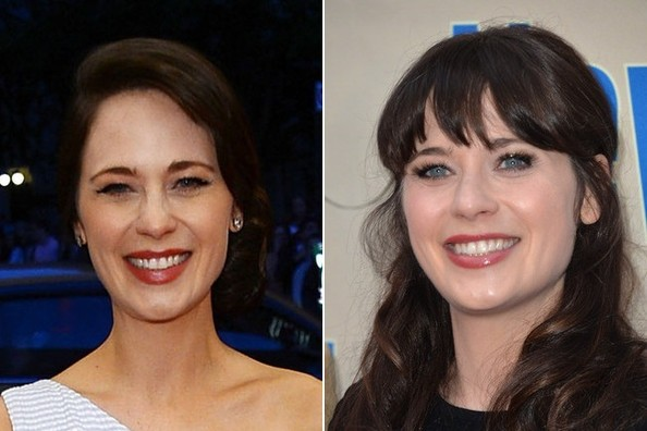 YOU GUYS, This Is What Zooey Deschanel Looks Like Without Bangs