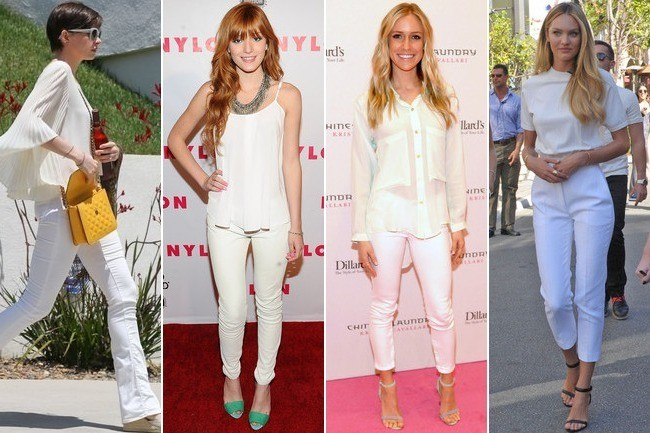Trending: White on White Celebrity Style