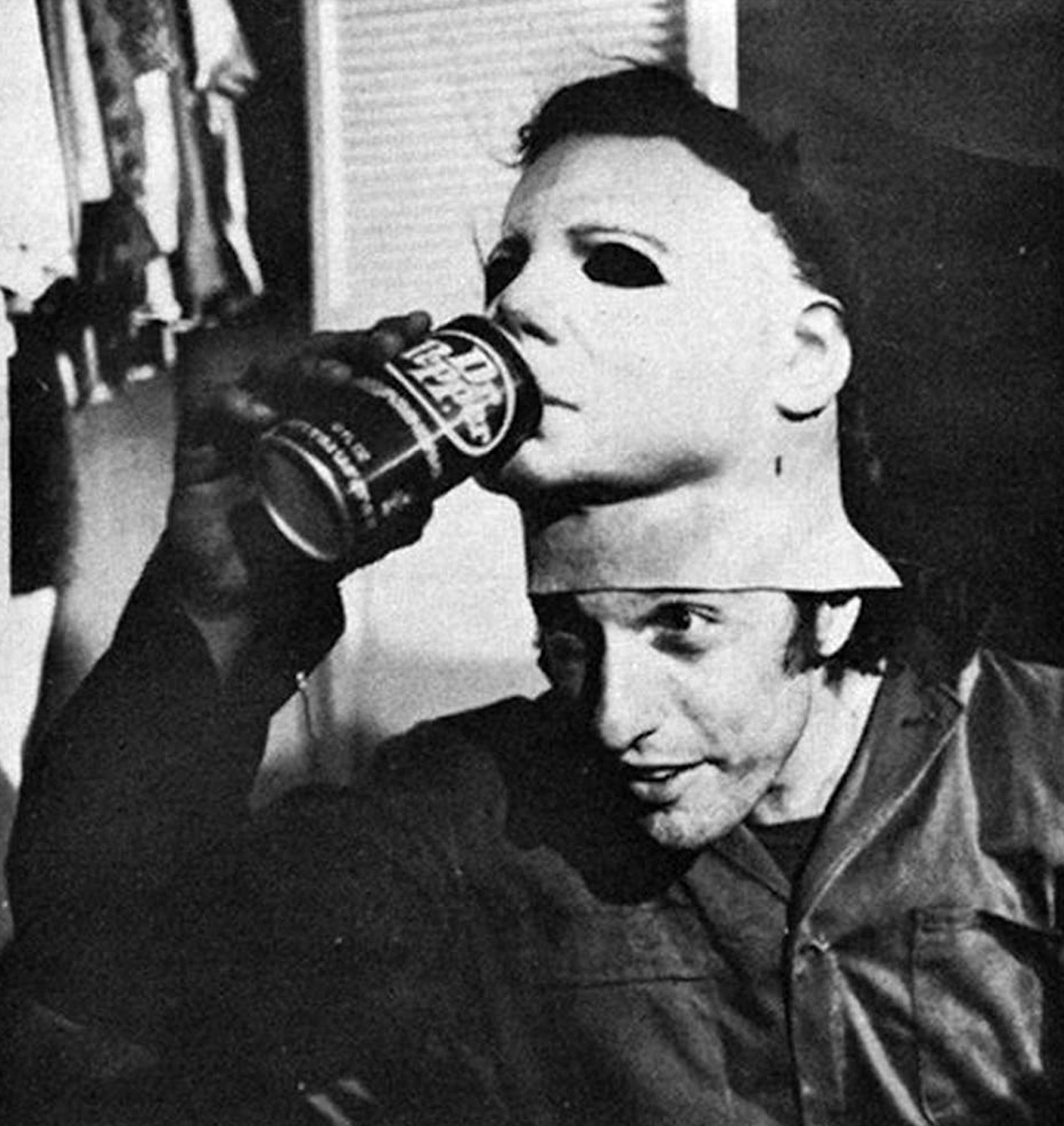 Nick Castle on set. (Compass International Pictures | Universal)