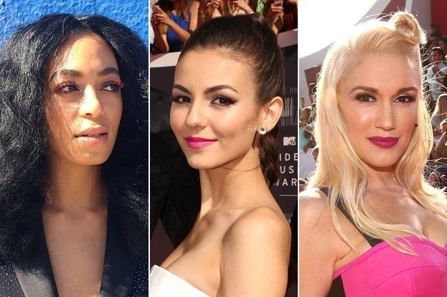 Hottest Trends of the 2014 VMAs: Center Parts, Slick Strands and Pink Makeup
