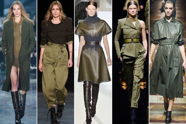 Army Green Marches Down the Runway at Paris Fashion Week