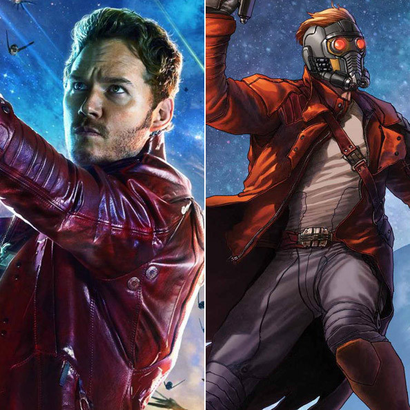 Star-Lord - 'Guardians of the Galaxy' Comic Book Back ...