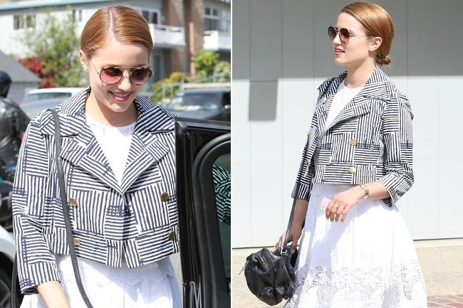 Obsessed: Dianna Agron's Cute Cropped Jacket