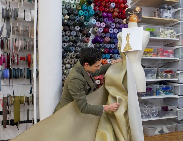Zac Posen's 24k Gold Dress is Inspired by Melting Ice Cream—Oh, and It's Worth $1.5 Million