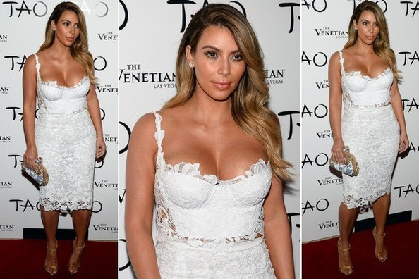 Kim Kardashian Wows in a Sexy Lacy Getup For Her 33rd Birthday