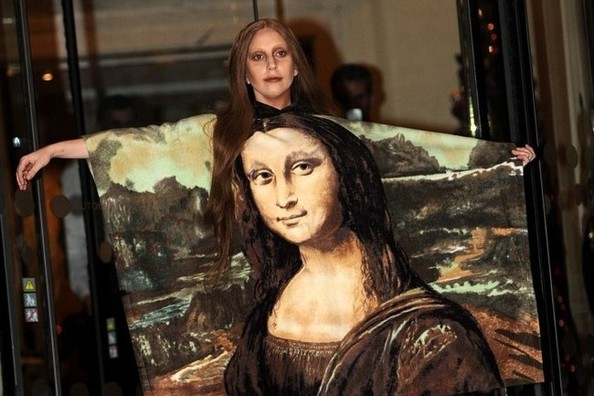 Lady Gaga's 'Mona Lisa' Dress