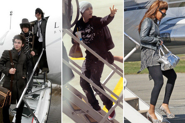 Celebrities on Private Jets
