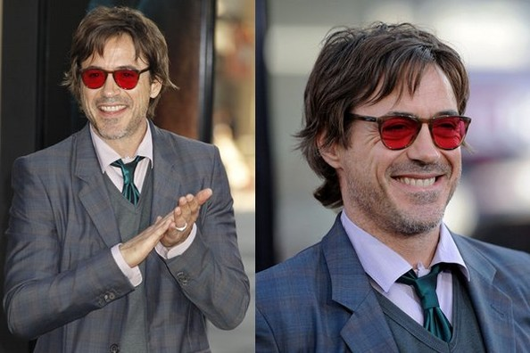7460520035 Robert Downey Jr Sees The World Through Rose Colored Glasses