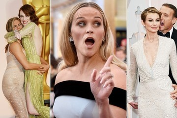 The Funniest Photos from the Oscars Red Carpet