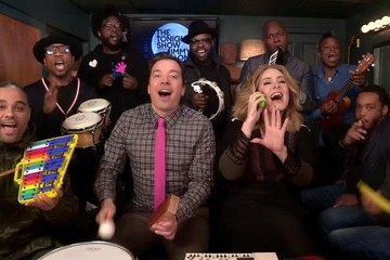 Adele Performed 'Hello' on 'Fallon' with a Bunch of Kid Instruments