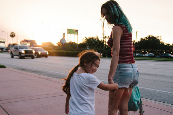 Brooklynn Prince and Bria Vinaite in The Florida Project. (A24)
