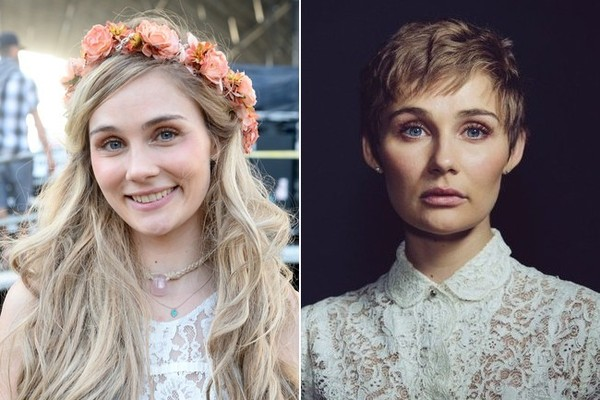 Nashville Star Clare Bowen Cut Her Hair For A Very Good Cause For The Win Zimbio