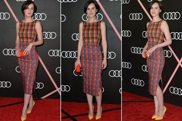 Michelle Dockery Has Done the Impossible—She's Made Us Want to Wear All-Over Plaid