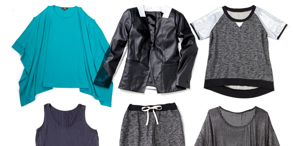 "Clockwise: <strong>NENE by NeNe Leakes</strong> <a href=""http://www.hsn.com/products/nene-by-nene-leakes-colorblock-jacket/7444619"" target=""_blank"">Colorblock Jacket in Black</a>, $140; <a href=""http://www.hsn.com/products/nene-by-nene-leakes-sequin-sleeve-sweatshirt/7444544"" target=""_blank"">Sequin-Sleeve Sweatshirt in Black</a>, $70; <a href=""http://www.hsn.com/products/nene-by-nene-leakes-textured-metallic-top/7446108"" target=""_blank"">Textured Metallic Top in Silver</a>, $80; <a href=""http://www.hsn.com/products/nene-by-nene-leakes-relaxed-pull-on-pant/7444511"" target=""_blank"">Relaxed Pull-On Pant in Black/Ivory</a>, $60; <a href=""http://www.hsn.com/products/nene-by-nene-leakes-hi-low-knit-tank/7444895"" target=""_blank"">Hi-Low Knit Tank in Navy</a>, $40"