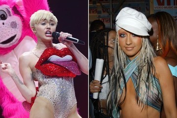 Miley Cyrus and Christina Aguilera Are Supposedly Feuding Over Leather Chaps