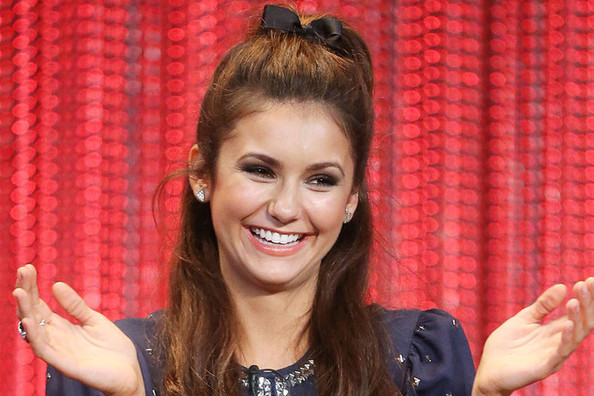 Nina Dobrev Wore A Bow In Her Hair, Thoughts?