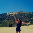 When she basked in the sun-soaked glory of the Hollywood sign.