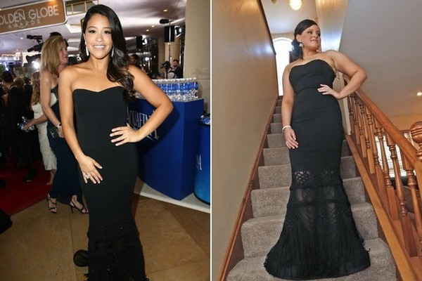 u0027Jane the Virginu0027 Star Gina Rodriguez Gifts Her Golden Globes Gown to a Fan  sc 1 st  Zimbio & Jane the Virginu0027 Star Gina Rodriguez Loans Her Golden Globes Gown to ...