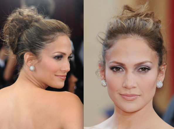 Jennifer lopez is known for her knockout red carpet looks. She sported a wispy twisted bun to the 2010 Academy Awards. more pics »