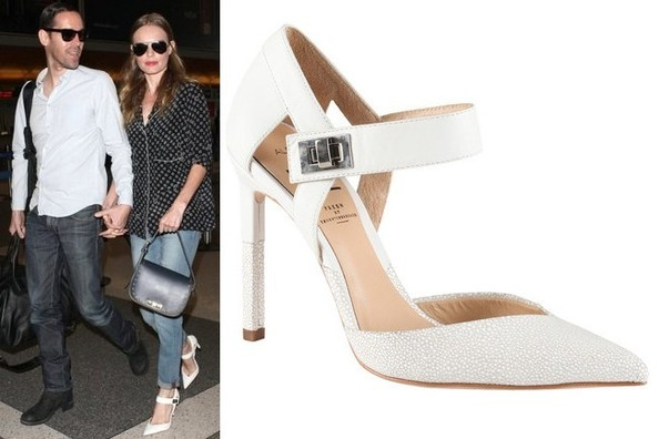 Where to Score Kate Bosworth's White Ankle-Strap Heels For Under ...