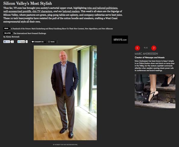 Vanity Fair Names Silicon Valley's 10 Best-Dressed