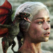 Dany walks out of the fire with her baby dragons (S1)
