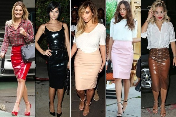 Now Trending: PVC Pencil Skirts