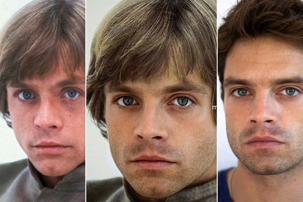 Image result for Bucky Barnes Luke Skywalker