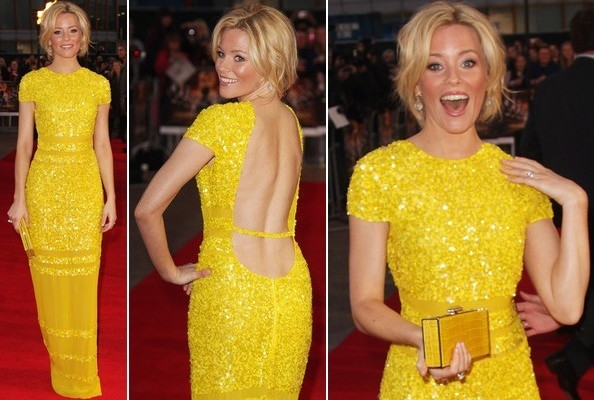 Look of the Day: Elizabeth Banks Is Sunny in Sequins