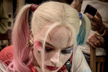 Margot Robbie Gives 'Suicide Squad' Crew Tattoos Dressed as Harley Quinn