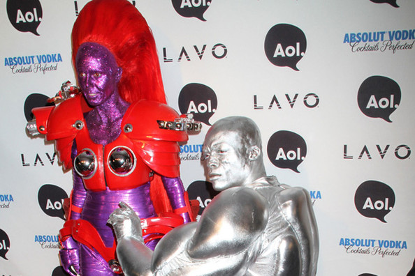 heidi klum and seal halloween. Celebrities at Heidi Klum#39;s 11th Annual Halloween Party at Lavo in New York