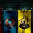 The Hogwarts houses were first written on a barf bag.