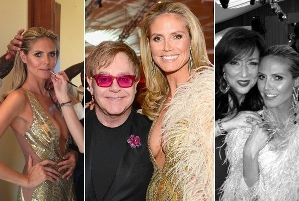 Heidi Klum Documented Pretty Much Her Entire Oscar Night on Twitter