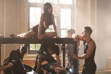 New 'Glee' Photos - Rachel Gets Sexy for Britney Spears Episode