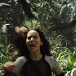 Katniss gets attacked by a swarm of jabberjays.