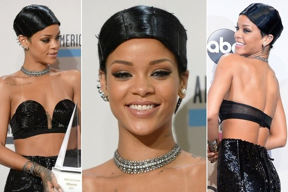 In Case You're Wondering, Rihanna's Interesting AMA Hairstyle is Called a 'Doobie'