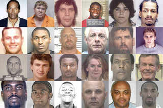 Top 50 Athlete Mugshots