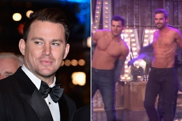Channing Tatum Freaks Out After Meeting Simone Biles On The Ellen Show