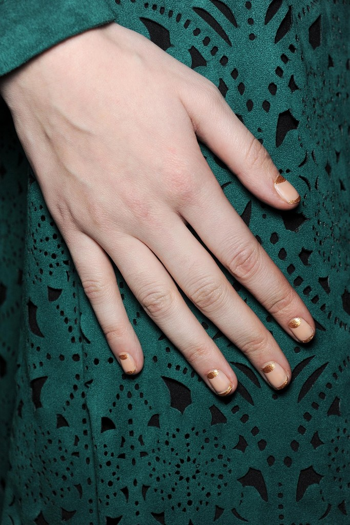 The Must-Try Manicure From NYFW Fall 2014 Has The Midas Touch