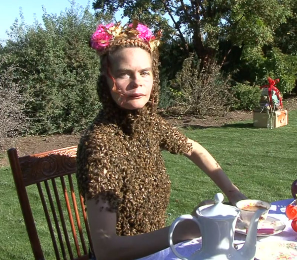 Oh Look, a Woman Wearing a Shirt Made of Bees [VIDEO]