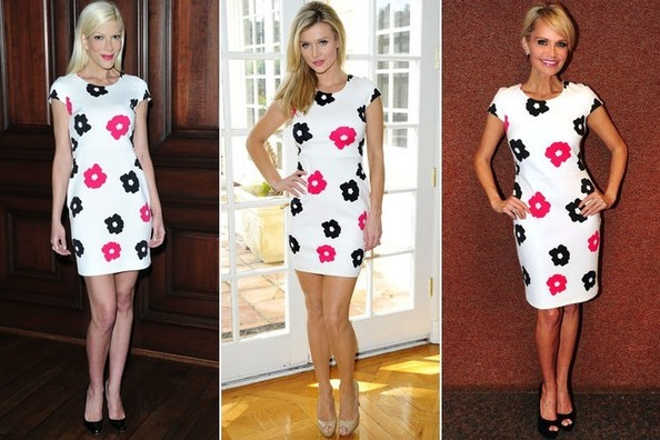 Who Wore It Better: Tori Spelling, Joanna Krupa, or Kristin Chenoweth? Vote!