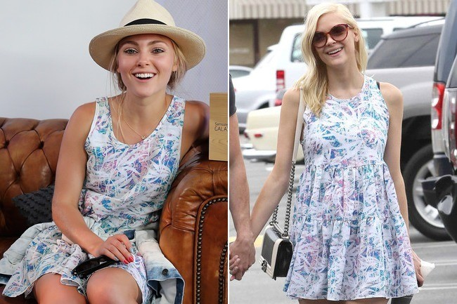 Found: Jaime King and AnnaSophia Robb's Pastel Babydoll Dress