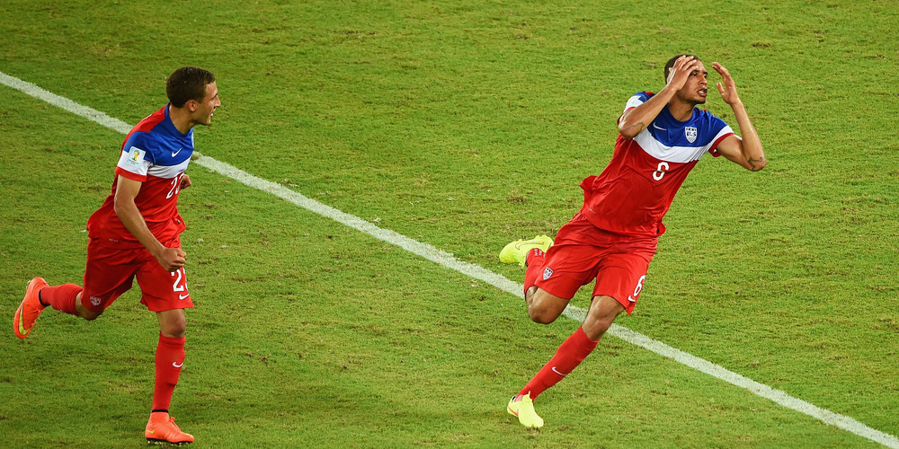 John Brooks' header gave Team USA a 2-1 victory in the USA Ghana match on Monday June 16th, 2014.
