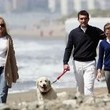 Antonio Banderas And Melanie Griffith Walking Their Dog In Marbella - From zimbio.com