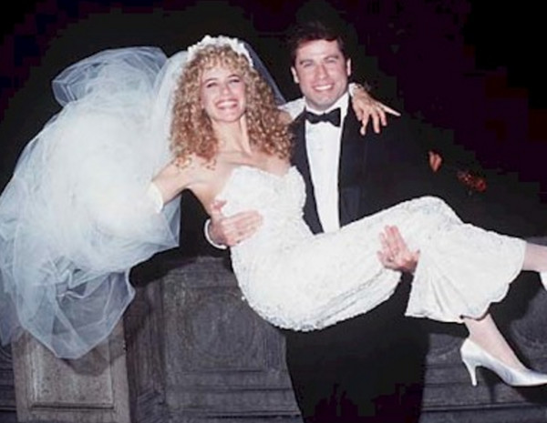 John Travolta and Kelly Preston wedding photo