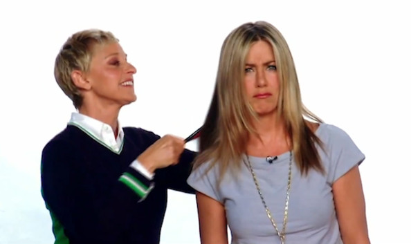Jennifer Aniston Gets a 'Makeover' From Ellen